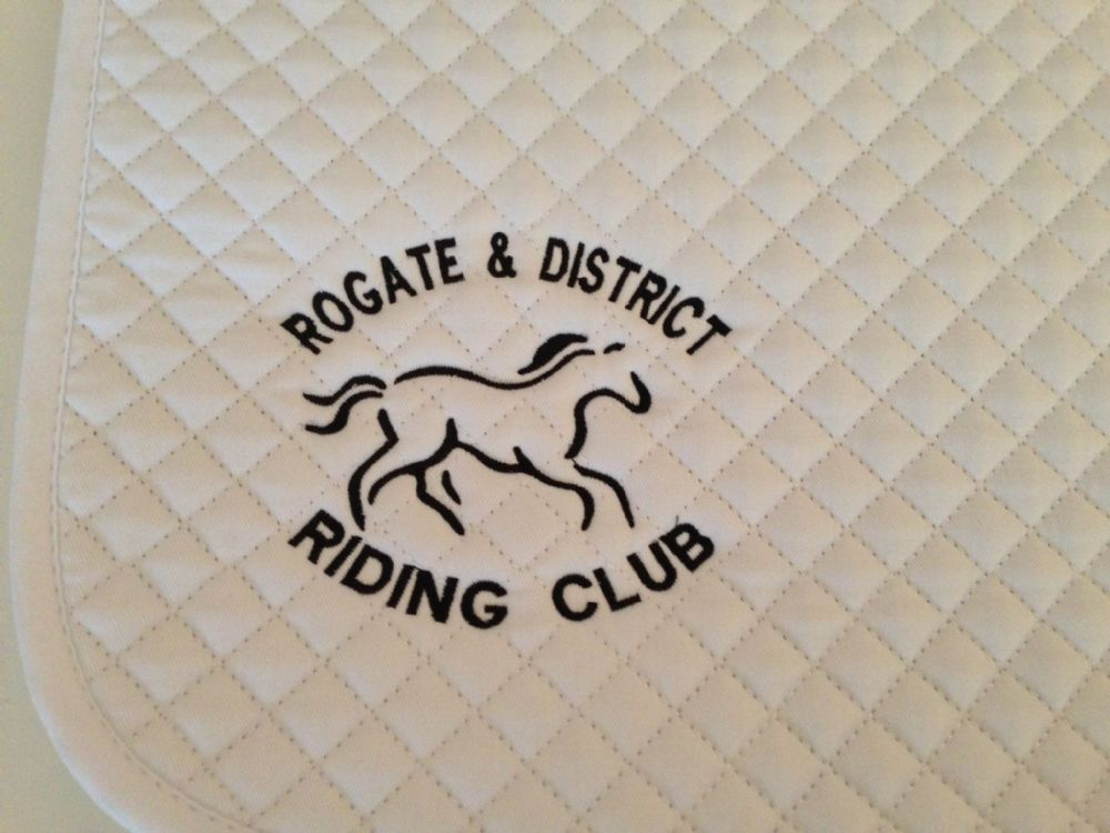 Rogate White Embroidered Saddlecloth